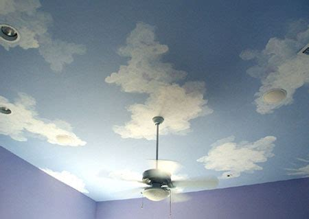 painting clouds on ceiling home dzine how to paint clouds on walls or ceiling