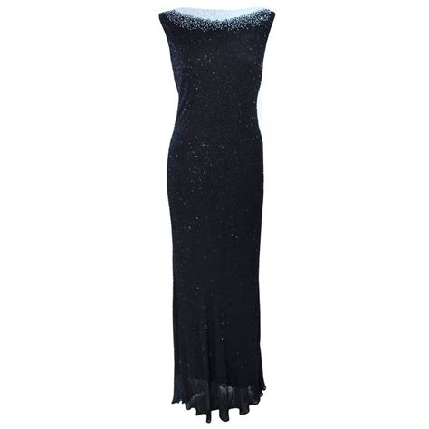 black and white beaded dress jovani black and white beaded gown size 6 8 for sale at