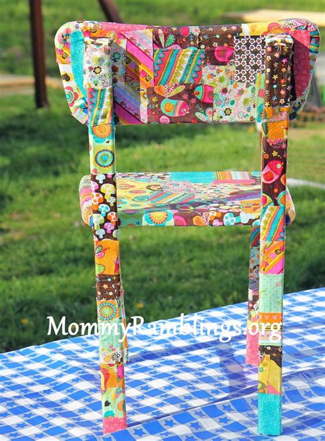 decoupage a chair how to decoupage a children s table and chairs with fabric