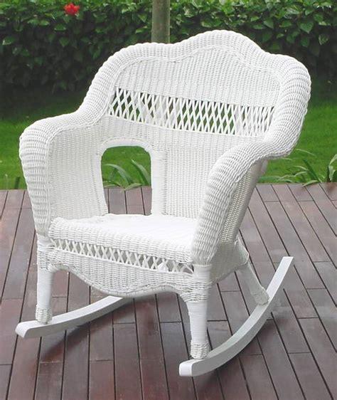 white wicker resin chairs all weather resin wicker rocker cdi 001 rc