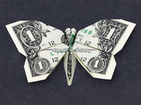 money origami butterfly butterfly money origami animal insect vincent the artist
