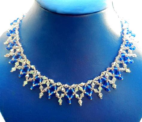 free jewelry tutorials free pattern for beaded necklace sky light magic