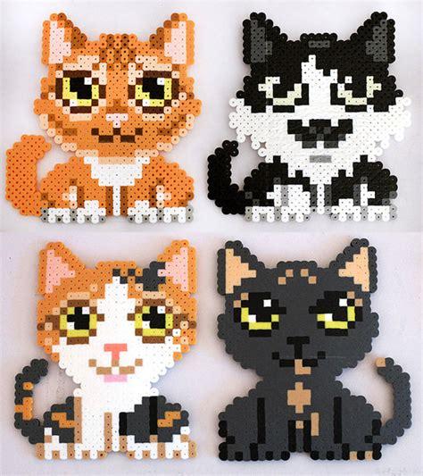 perler bead patterns cat custom perler bead cat magnet by kittendrumstick on etsy