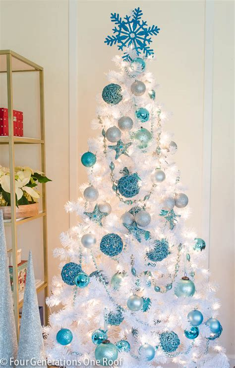 ideas for decorating white trees our blue white tree four generations