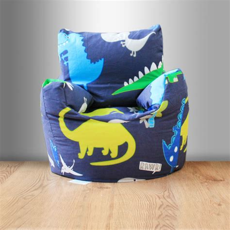 Bean Bag Chairs For Boys by Children S Beanbag Chair Dinosaurs Blue Boys Bedroom