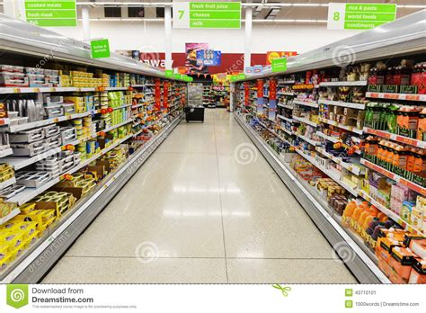 store uk supermarket aisle view editorial photo image 43710101