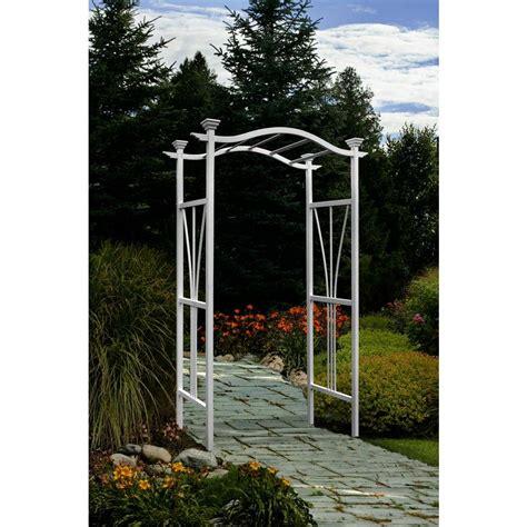 Garden Arch Home Hardware Arbors 86 5 In X 45 In Vinyl Arbor Va68102