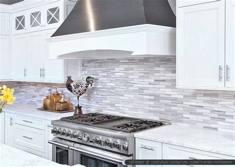 modern kitchen tiles white cabinet marble countertop modern subway kitchen
