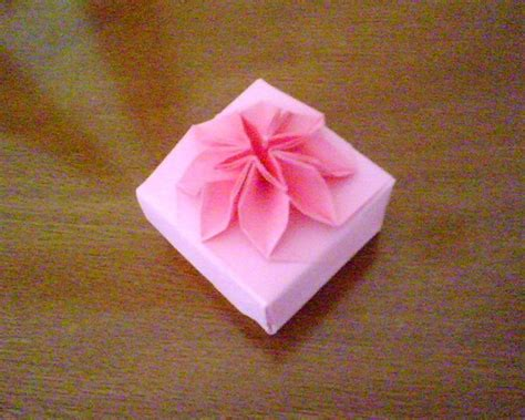 origami box flower pink origami flower box my origami boxes