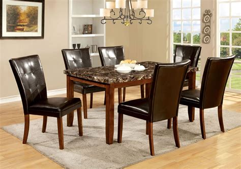 marble dining room table set elmore antique oak faux marble top rectangular leg dining