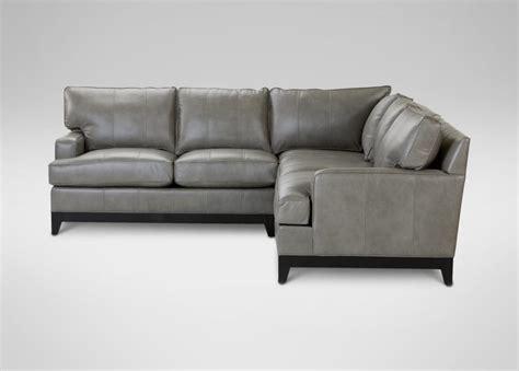ethan allen sectional sofas comfortable ethan allen leather sectional sofas grey top