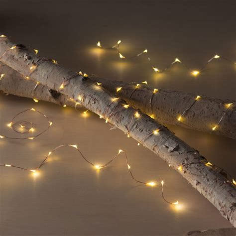glowing starry string lights led string lights in copper or silver finishes vivaterra