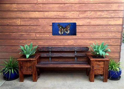 pallet planter box plans front door pallet planter box