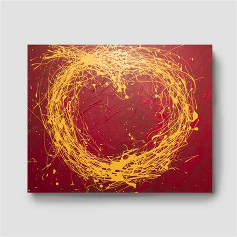 acrylic painting gold gold splash acrylic abstract painting 30 x 24