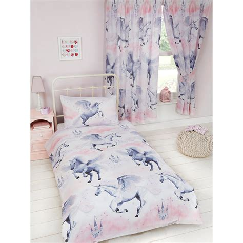 unicorn bedding pink stardust unicorn single duvet cover pillowcase