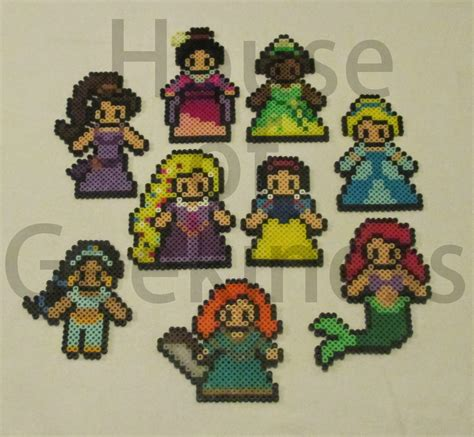 perler disney new disney inspired princess collection house of geekiness