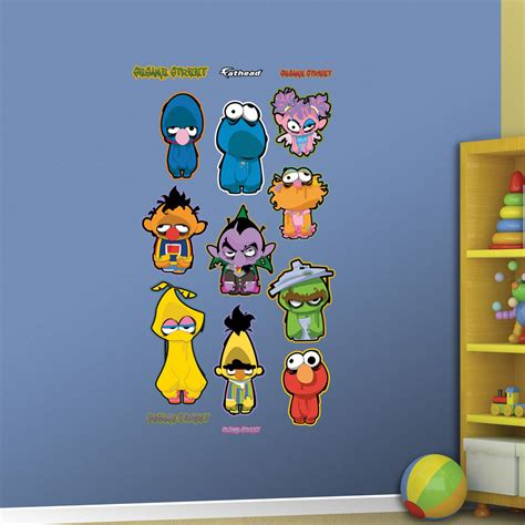 Sesame Street Wall Mural sesame street zombie collection realbig wall decal