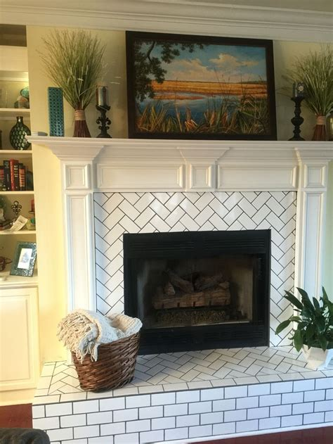 fireplace tiles best 25 subway tile fireplace ideas on white