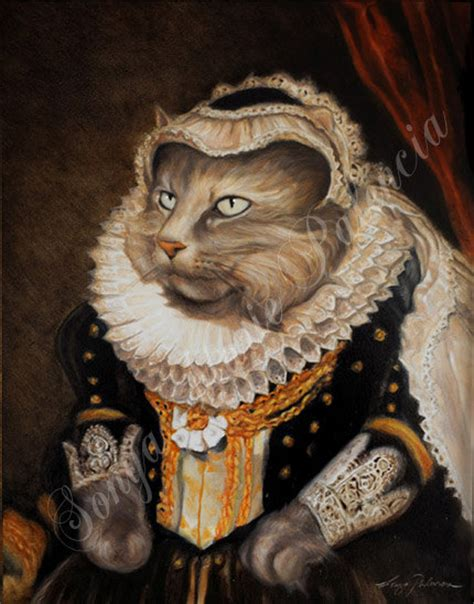 do cat painting 8x10 royal pet portrait by lordtruffles on etsy