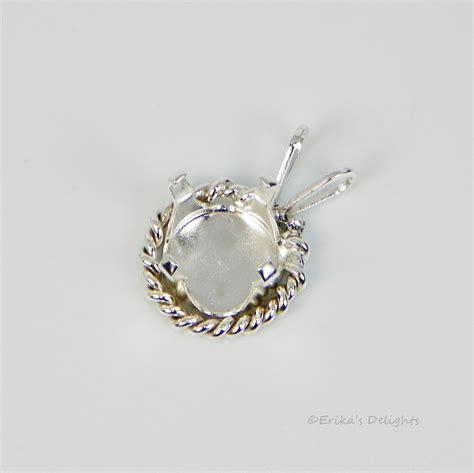 jewelry settings 10mm fancy rope snap tite sterling silver pendant