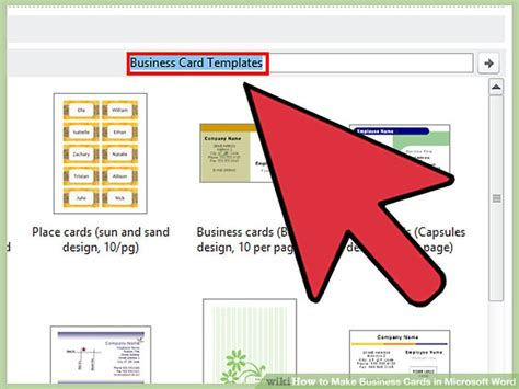 how to make a business card on microsoft word how to make business cards in microsoft word with pictures