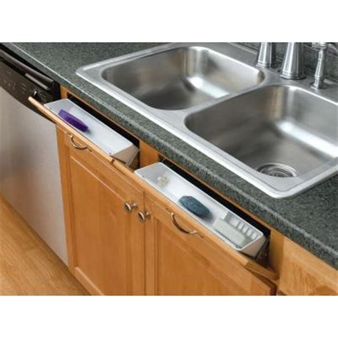 kitchen sink tray rev a shelf 14 in polymer tip out sink front trays 6572
