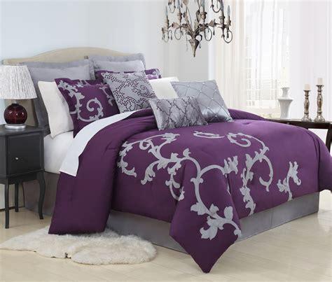 plum king comforter set 9 duchess plum and gray comforter set