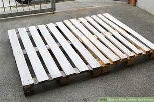 make bed frame how to make a pallet bed frame 6 steps with pictures