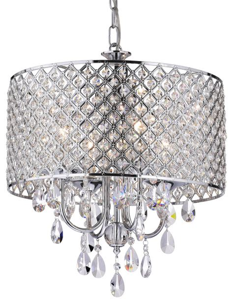 chandelier chrome drum 4 light chandelier chrome contemporary