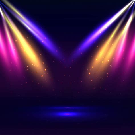 colorful lights colorful stage lights background vector free
