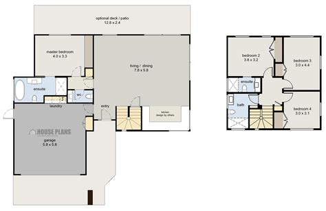 house plan zen cube 4 bedroom house plans new zealand ltd