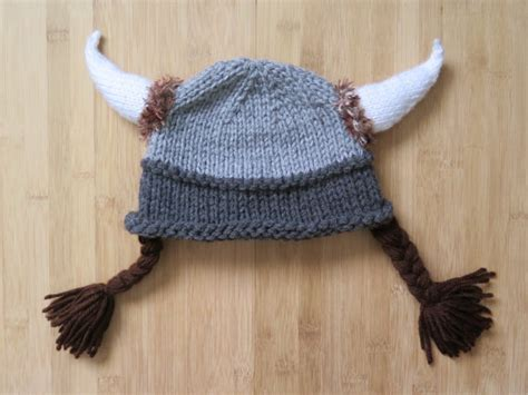 viking knit hat viking hat with braids knitted viking hat knit viking hat