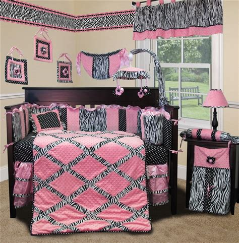 pink and brown zebra crib bedding baby nursery baby room decoration with crib