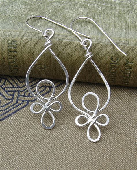 sterling silver wire for jewelry celtic loops sterling silver wire earrings celtic jewelry