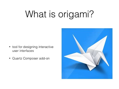what is origamy ios zagreb meetup 02 folding animations with origami