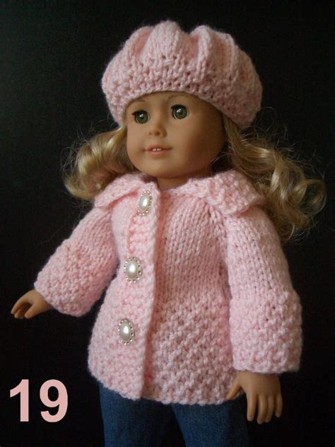 dolls knitted clothes patterns easy knitting pattern ag 18 quot doll set easy knitting