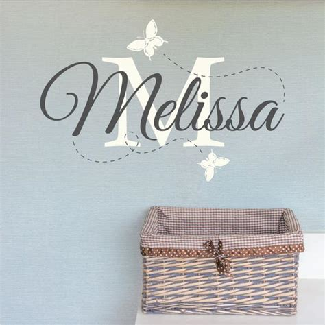 nursery wall name decals personalised nursery name wall sticker wallboss wall