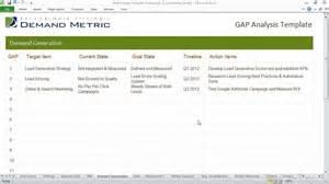 gap analysis template advanced youtube