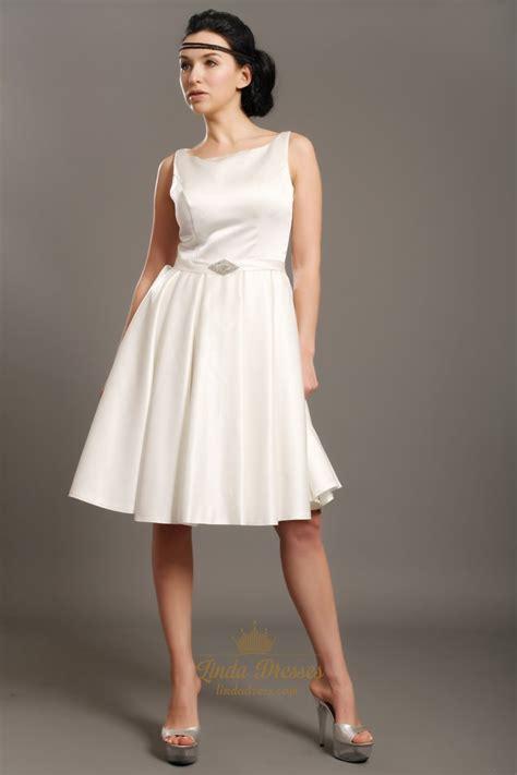 us beaded satin sleeveless dress ivory satin sleeveless knee length wedding dresses with