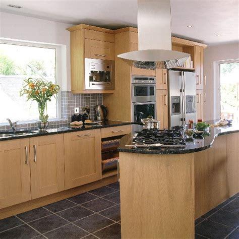 oak kitchen designs modern oak and steel kitchen kitchen design decorating