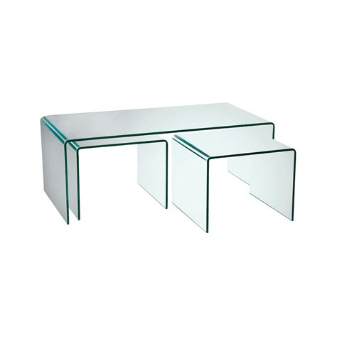 glass table puro glass coffee table set dwell