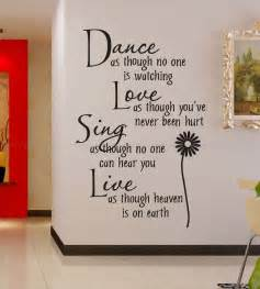 free shipping wholesale 50 discount sing live wall quotes decals removable