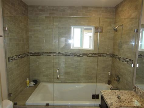 bathtubs with glass shower doors white bath tub combined with large glass door plus silver