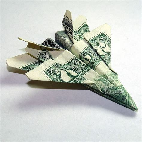 2 dollar bill origami dollar origami two dollar jet fighter f 18 hornet by beanytink