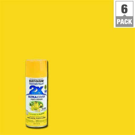 home depot yellow paint suit rust oleum painter s touch 2x 12 oz gloss sun yellow