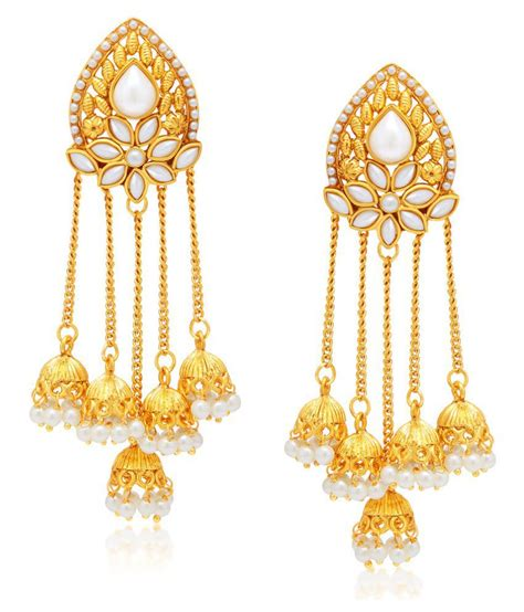 earrings with sukkhi gold plated alloy earrings buy sukkhi gold plated