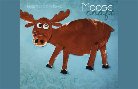 moose crafts for moose craft with printable