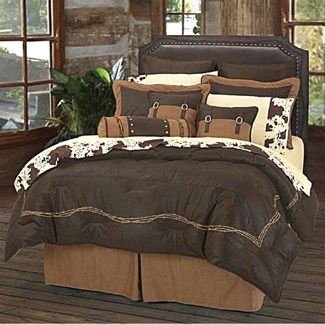 western bedding for ranch barbwire western bedding comforter set chocoate