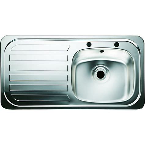 wickes kitchen sink wickes single bowl kitchen sink stainless steeel lh