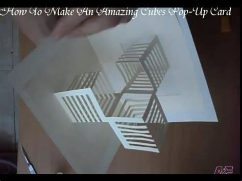 how to make amazing pop up cards 14 how to make an amazing cubes pop up card origamic